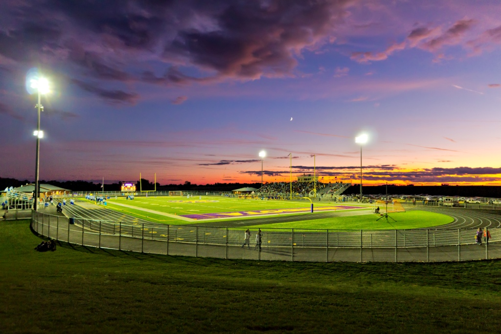 MHS Stadium at Sunset